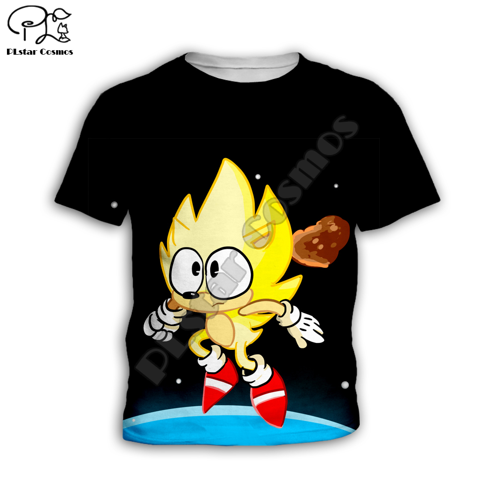 Kids Set Summer suit Super Sonic anime print 3d tshirt Children tops Short Sleeve Tees Casual Shorts Cartoon boy girl t shirts 5