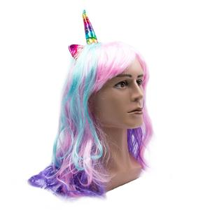 Colorful Unicorn Wig Fashion F