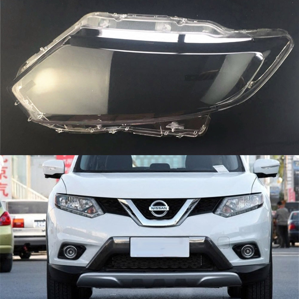 For Nissan X-Trail 2014 2015 2016 Headlight Cover Car Headlamp Lens Replacement Clear Glass Auto Shell Cover