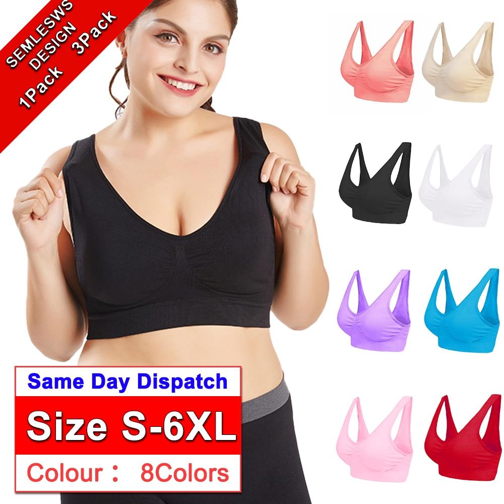 Plus Size Quick Drying Seamless High-elastic Sports Yoga Underwear Push Up Sports Bra Fitness Running Yoga Jogging Gym Women D30