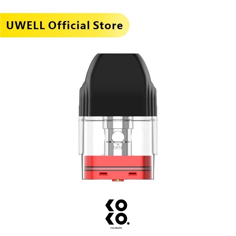 UWELL 5 Packs Caliburn Refillable Pod Cartridge Pack Of 4 2ml Capacity 1.2 Ohm Suitable For Caliburn KOKO/Caliburn Pod System