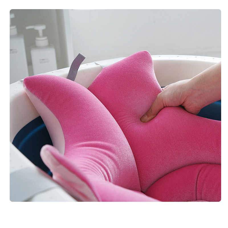 のベビーバスシートサポート幼児シャワーギフトポータブルエアクッション浴槽新生児保育園枕ノンスリップ浴槽パッド
