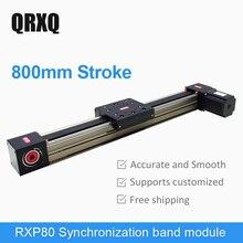Linear slide module electric slide CNC cross table precision multi axis guide rail 800mm
