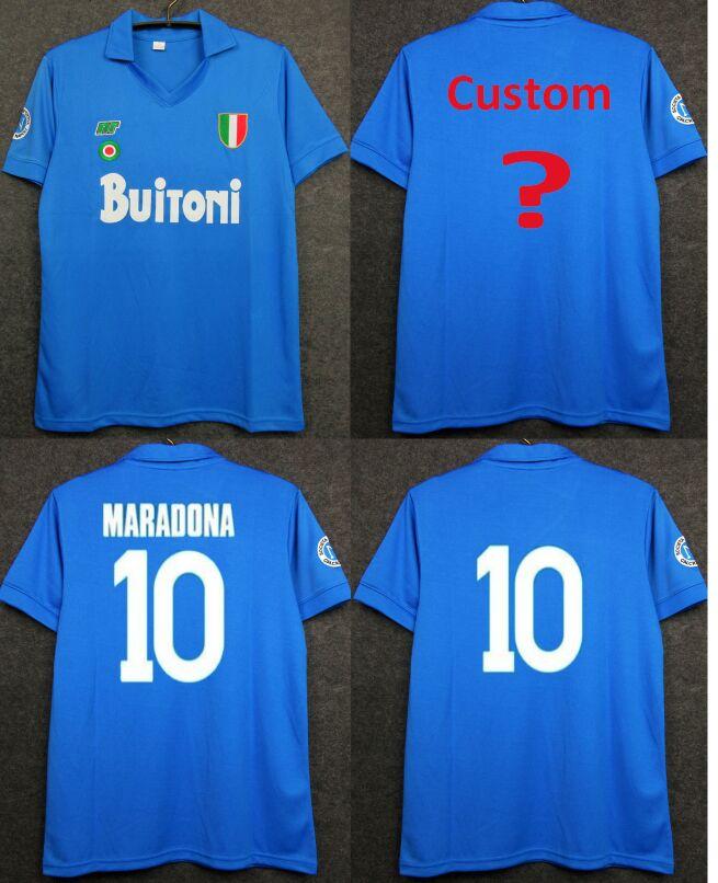 Scudetto Coppa Maglie Calcio Italia NAPOLI 1987/1988 Italy NAPLES MARADONA 1987 1988 CAMISETAS DE FUTBOL Shirt