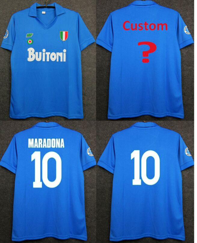 Scudetto Coppa Maglie Calcio Italia NAPOLI 1987/1988 Italy NAPLES MARADONA Vintage Jerseys 1987 1988 CAMISETAS DE FUTBOL Shirt