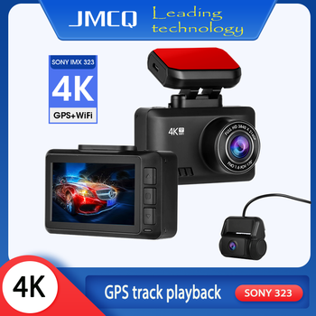 4K Dash Cam Gesture Photo WiFi 2.45 Car Camera Dashcam GPS Track playback Dashcam 3840*2160P 30FPS Ultra HD DVR Video Recorder image