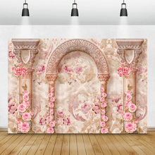 Laeacco خلفية للتصوير الفوتوغرافي لأزهار الحائط ، خلفية للتصوير الفوتوغرافي لحفلات الزفاف ، وحفلات استقبال المولود الجديد ، واستوديو الصور