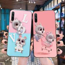 Funny cartoon Mouse Chibi Soft black Phone Case for Huawei P40 P30 P20 lite Pro Mate 20 Pro P Smart 2019 prime(China)