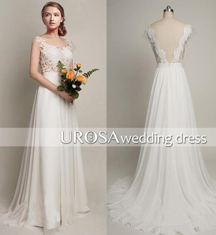 Actual Lmages Vestido De Noiva Sexy Backless Long Lace White Chiffon Cheap 2018 Appliques Vintage Bridal Gown Bridesmaid Dresses