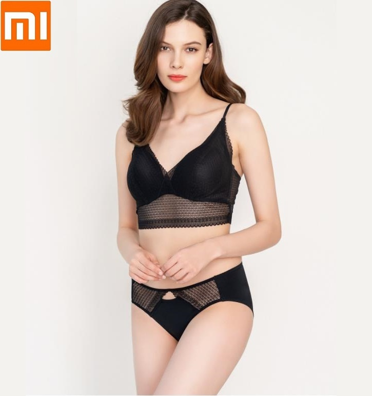 Xiaomi Instant Me No Rims Thin Cup Lace Bra Underwear Suit Girls Comfortable Sexy Female Bra Underwear Set For Women Push Up Bra