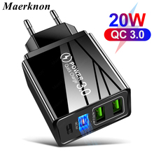 PD Charger iPhone 12 Qc3.0-4.0 3 Usb for 11-pro/Max/Qc3.0-4.0/.. Wall