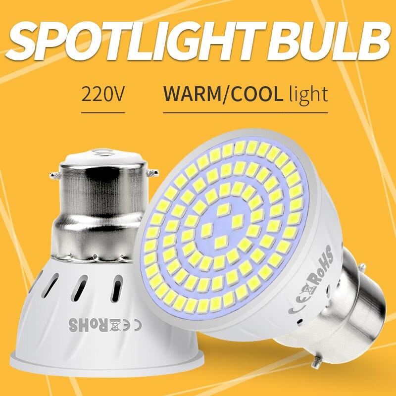 Spotlight Bulb MR16 LED Bulb E14 220V GU10 LED Lamp E27 Corn Light B22 Spot Light GU5.3 48 60 80led Bombillas Gu 10 Ampoule 2835