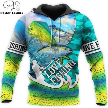 Love fishing tropical game fish hoodie