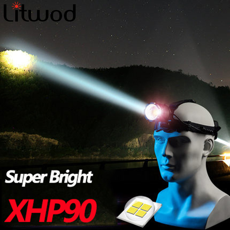 Z20 Most Powerful XHP90 LED Headlight Headlamp Head Lamp Power Flashlight Headlight 18650 Battery Best For Camping Fishing