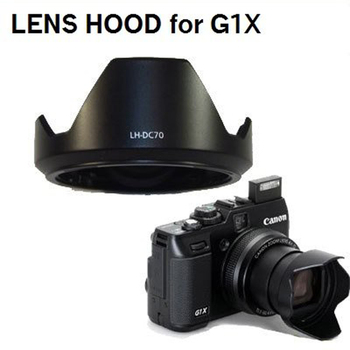 LH-DC70 HARD PLASTIC Bayonet Lens Hood for CANON PowerShot G1X GX1 Cameras image
