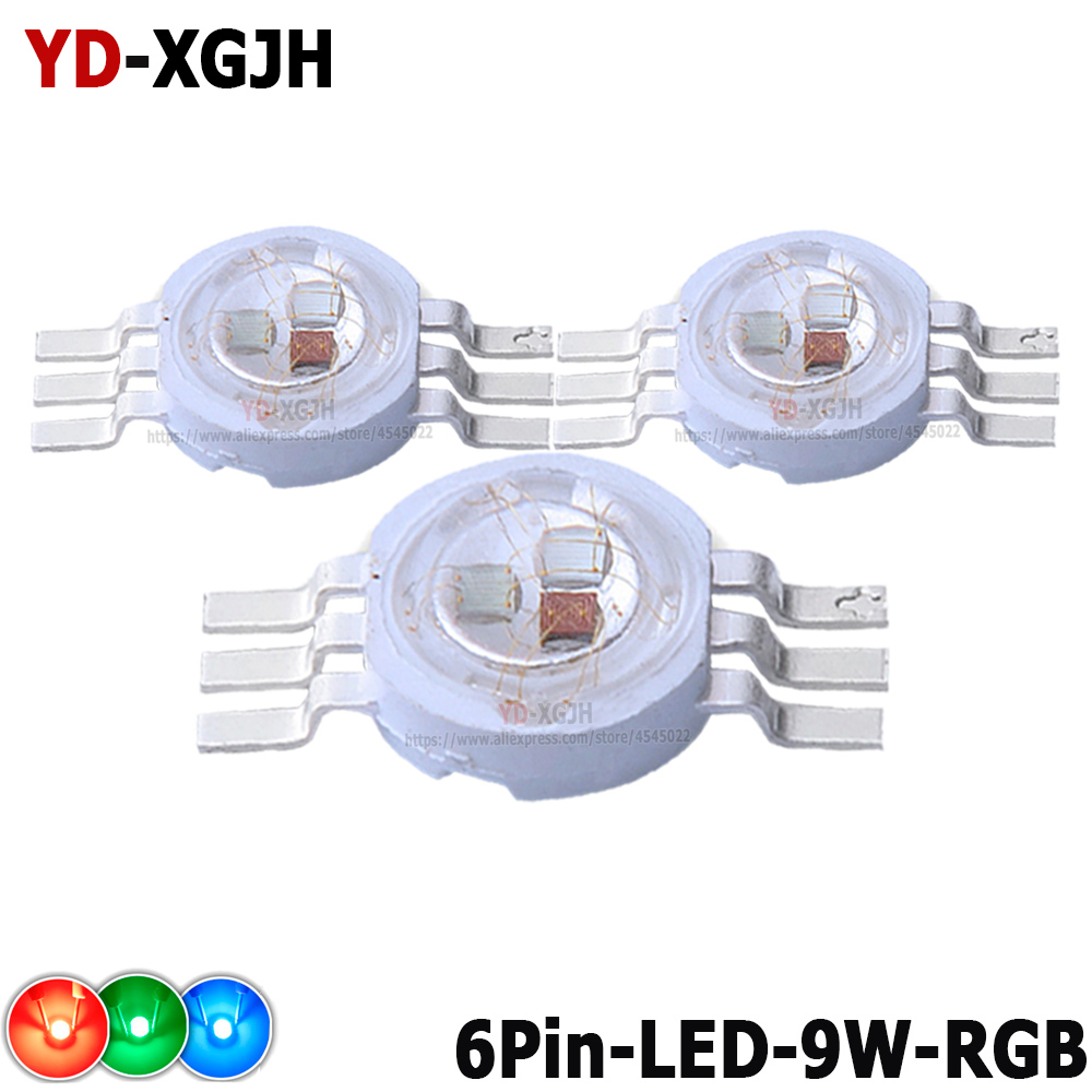 High Power LED Chip Light RGB SMD Led Light 3W 9W LED RGB Diode For 9W 4pin 6pin 45mil DIY Molding LED Stage Light Source Beads