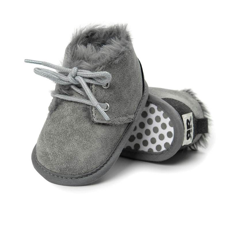 Brand New Toddler Infant Newborn Baby Boy Girl Winter Fur Snow Boots Warm Shoes Booties Casual Leopard Little Kids Strappy Shoes