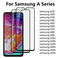 3 piezas de vidrio templado para Samsung Galaxy A10 A20 A30 A40 A50 A70 A80 A90 Protector de pantalla para Samsung A10s A20s A30S A50S de vidrio