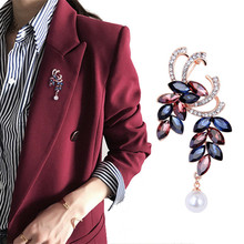 Classic Crystal  Grape Brooches for Women Two Bunch of Grapes Brooch Pin Fashion Dress Coat Accessories Cute Jewelry