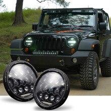 1pc 7 Polegada 150w/300w led farol super brilhante lâmpada de cabeça de luz para jeep wrangler jk tj cj embutido emc para anti-reflexo