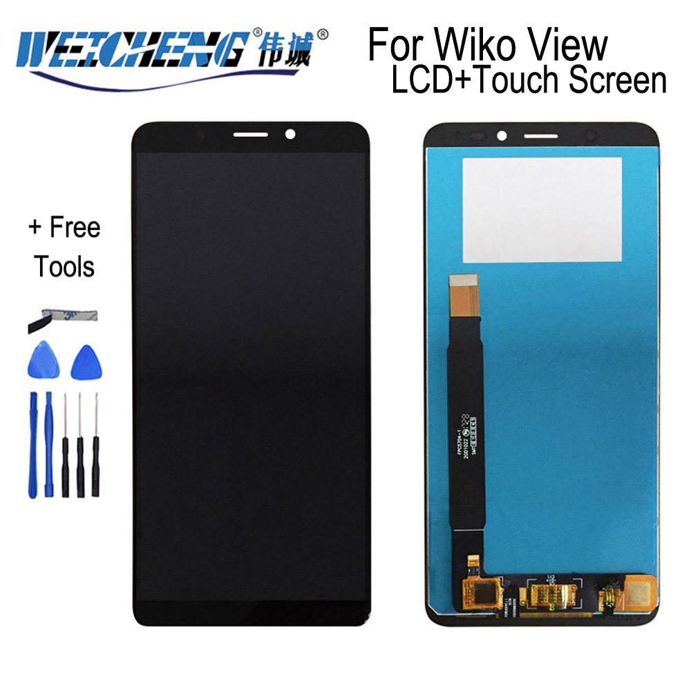 WEICHENG For Wiko View LCD Display And Touch Screen Assembly Repair Part Mobile Phone For Wiko View Display + Tools And Adhesive