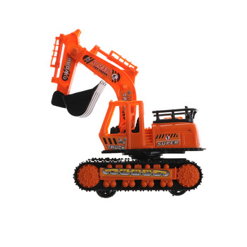 1 Pcs Big Size Plastic Orange High Simulation Engineering Digging Machine Excavator Model Kids Toys 12cm*6.2cm*14cm image