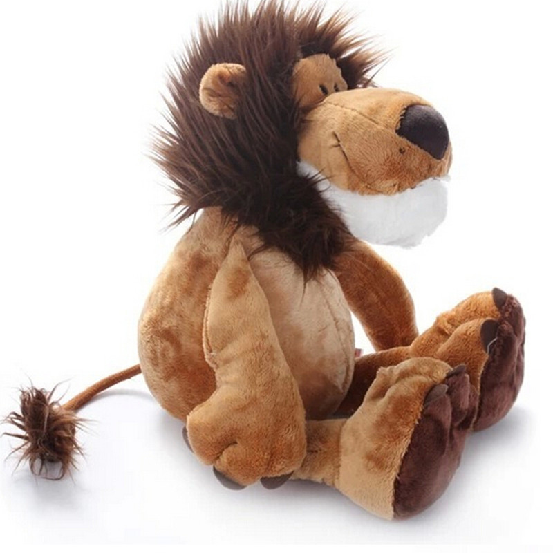 25CM Hot Sale Popular Lion Elephant Giraffe Monkey Stuffed Plush Doll Jungle Series Stuffed Animal Toys For Kids Children Gift