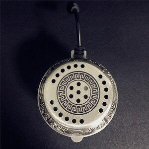Image 3 - Arabischen Silber Metall Shisha Shisha Spezielle Holzkohle Elektrische Ofen Halter Carbon Herd Chicha Schüssel Shisha Rohre Zubehör