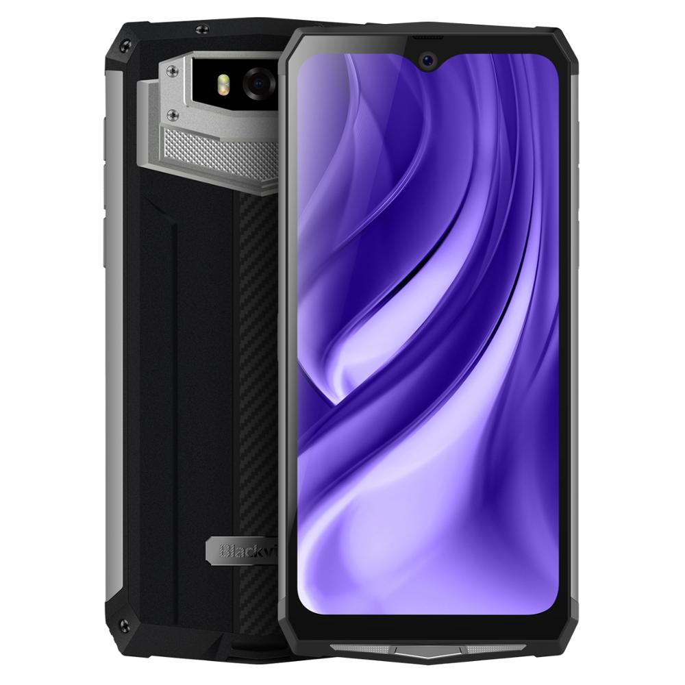 Image 5 - Blackview BV9100 6.3 FHD+ 13000mAh IP68 Rugged Smartphone 4GB 64GB Helio P35 Octa Core Android9.0 Mobile Phone 30W Fast ChargeCellphones   -