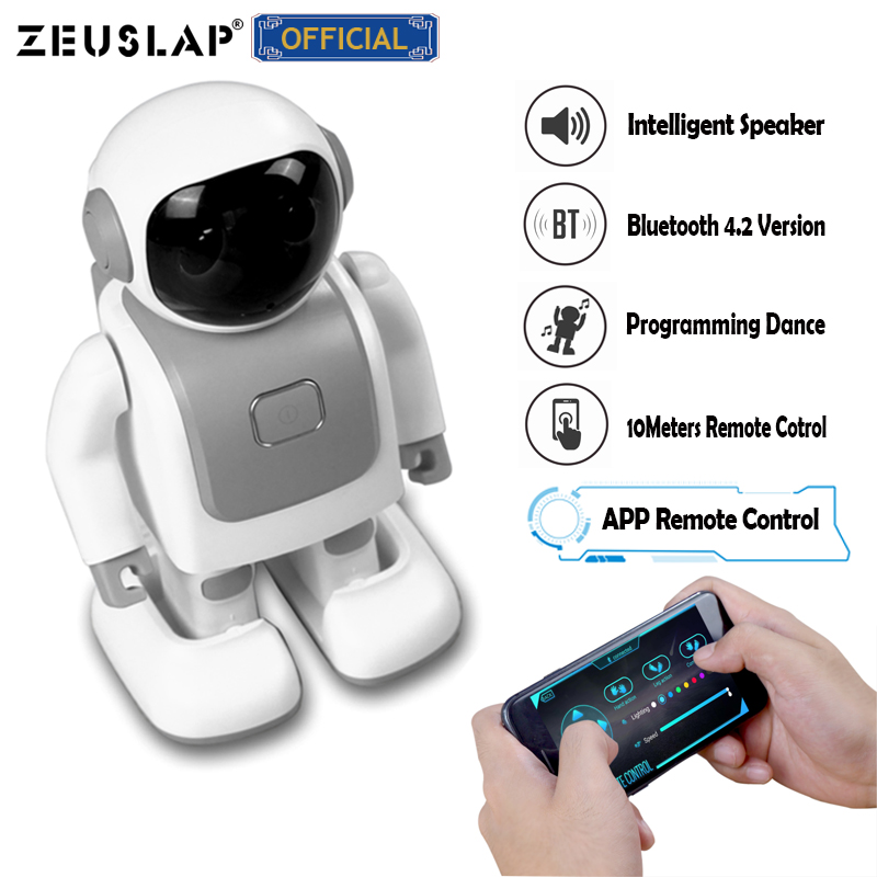 Intelligent Dancing Robot Speaker Wireless Music Speaker Remote Control Program Dance Action Bluetooth Speaker for Kids Gift