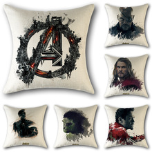 Avengers 2 film and television stills Iron Man cotton and linen pillowcase linen sofa pillow cushion cover