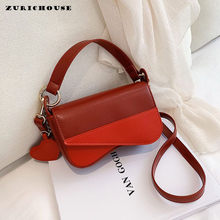ZURICHOUSE Mini Square Handbags Women Fashion Contrast Color PU Leather Bag Daily Party One Shoulder Crossbody Bags Ladies