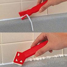 Nettoyeur de sol pratique, Mini outils faits à la main, grattoir utilitaire nettoyeur de carreaux, pelle à résidus de colle de Surface 2 pièces/ensemble