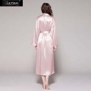 Image 3 - LILYSILK Womens Silk Robe Classic Full Length Long 22 Momme Pure Silk