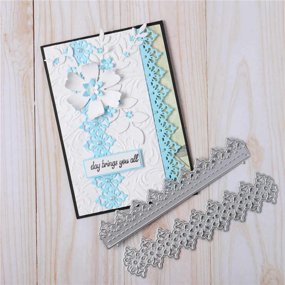 Metal Cutting Dies Flower Vine Lace Stencil For DIY Embossing Scrapbooking Cards