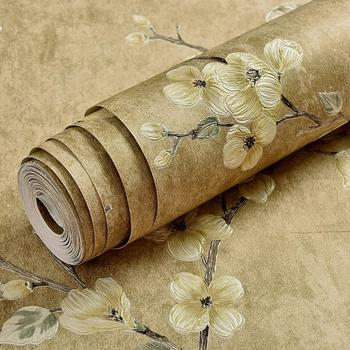 Vintage Flower Damask Wallpaper 3D Embossed Texture Wall Paper Retro Luxury Non-woven Living Room Floral Background Wall Decor girls bedroom embossed wallpaper pink background wall 3d wallpaper pvc roll classic flower wall paper peony floral wall covering