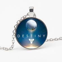 Fashion Retro Destiny Game Necklace Destiny Game Crystal Pendant Charm Jewelry Glass Dome Pendant Necklace Couple Gift Souvenir