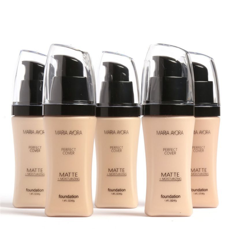6 colors water proof liquid foundation oil control moisturizer Long Lasting Natural Makeup Concealer Base Cream Cosmetics image
