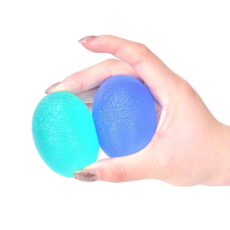 1pc סיליקון ביצת כושר הרחבה יד גריפר Strengthener זרוע יד אצבע ממתח מאמן הפגת מתחים כוח כדור