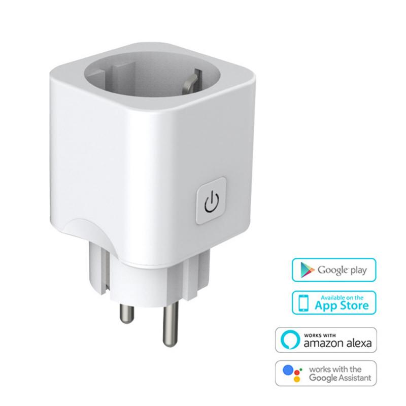WiFi Smart EU Plug Power Switch Outlet For Alexa Echo Smart Home Wireless Socket