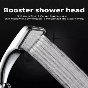 Shower-Head Spray Bath Boosting Powerfull Water-Saving 300-Holes High-Pressure Beads