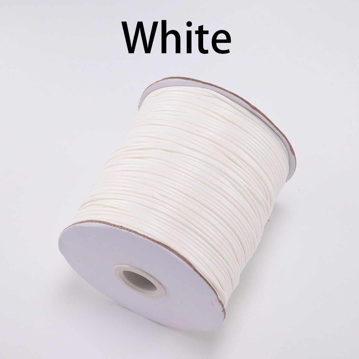 10 מטר\חבילה 22 צבע עור קו שעוות חוט כותנה חוט מחרוזת רצועת שרשרת חבל עבור תכשיטי ביצוע DIY אספקת צמיד