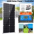 100W Панели солнечные с контроллером 18V Dual USB Автомобильное зарядное устройство Порты и разъёмы на открытом воздухе Порты и разъёмы в состояни...