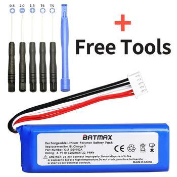 3 7V 6200mAh Bateria Bateria GSP1029102A dla JBL Charge 3 tanie i dobre opinie Batmax Speaker Battery Standardowa bateria Rechargeable Li-ion Battery