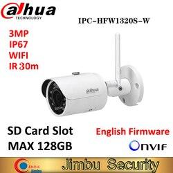 Dahua IPC-HFW1320S-W 3MP IR30M IP67 mini kamera WIFI gniazdo kart SD sieci zewnętrzne WIFI kamera zastąpić IPC-HFW1320S-W kamera IP