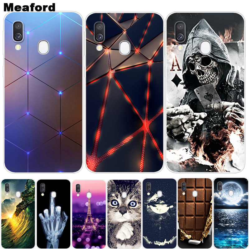 For <font><b>Samsung</b></font> A40 Phone Cover Soft Silicone 3D Printing Back Case Coque For <font><b>Samsung</b></font> Galaxy A40 <font><b>A</b></font> <font><b>40</b></font> A405 A405F TPU Case <font><b>hoesje</b></font> A40 image