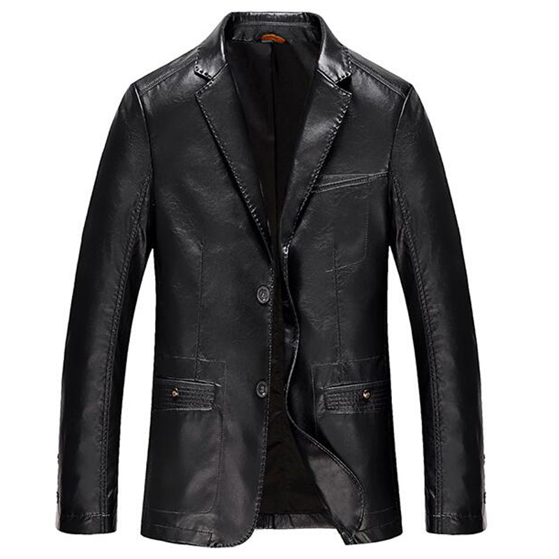 New Fashion Casual Mens Suede Leather Jacket Spring Business Formal Mens Suit Leather Jackets European and American Style C2115