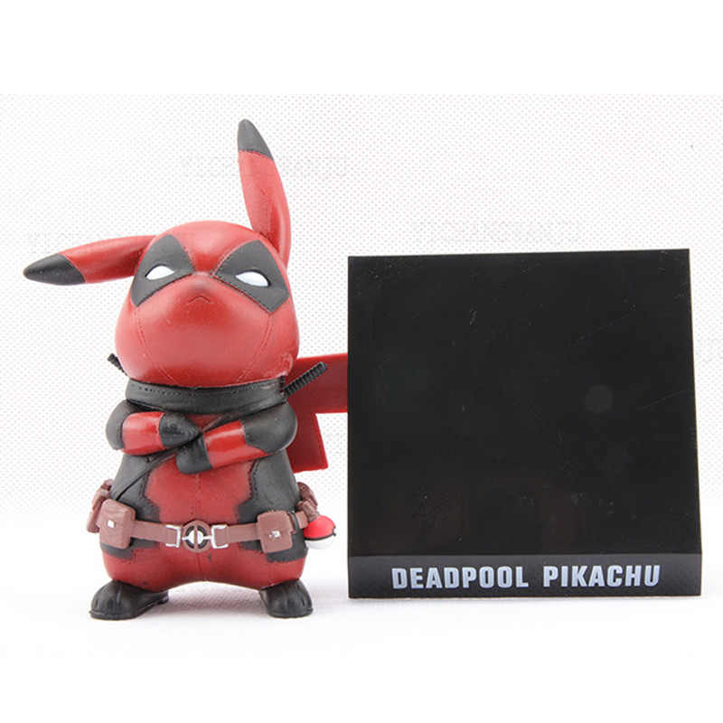 13cm Deadpool Pikachu figurka szary ograniczony Ver. Deadpool Pikachu Doll zabawka figurka z pcv Brinquedos dekoracja biurka model