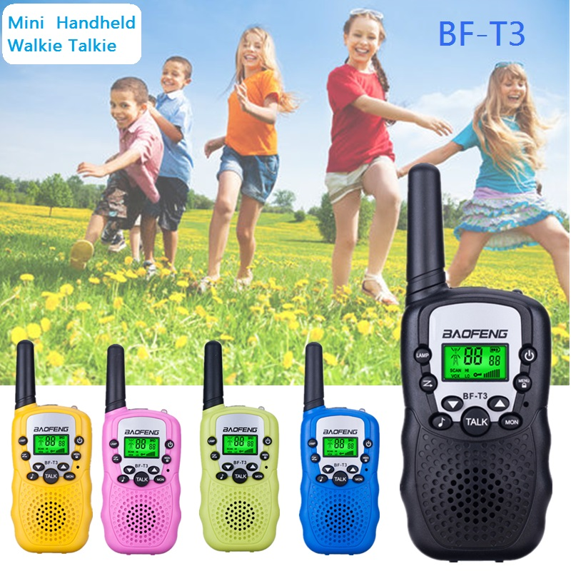 2pcs Baofeng BF-T3 UHF 462-467MHz 8 Channel Walkie Talkie Portable Two-Way <font><b>10</b></font> Call Tones Radio Transceiver BF T3 for Kid Radio image