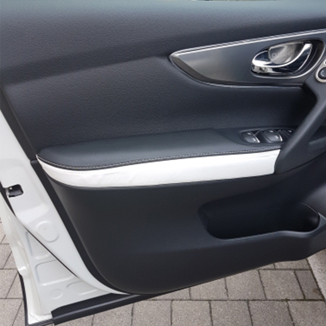 4pcs Soft Leather Door Armrest Cover For Nissan Qashqai J11 2016 2017 2018 Interior Door Armrest Panel Cover Sticker Trim